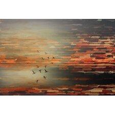 'Night Flight' by Parvez Taj Graphic Art Print on Wrapped Canvas