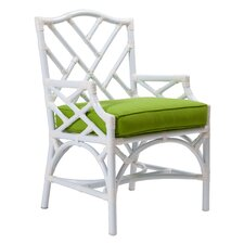 Chippendale Dining Arm Chair with Cushion by David Francis Furniture