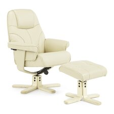 Coche Recliner and Footstool