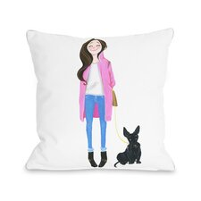 Love from NYC 4 Girl Dog Throw Pillow by One Bella Casa