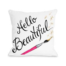 Hello Beautiful Sparkles Throw Pillow