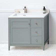 Briella 36 Bathroom Vanity Cabinet Base in Ocean Gray by Ronbow