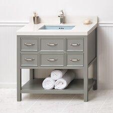 Newcastle 36 Bathroom Vanity Cabinet Base in Ocean Gray by Ronbow