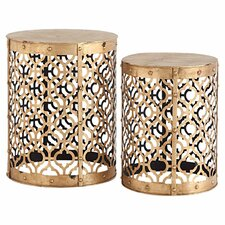 2 Piece Winnie End Table Set by Mercana