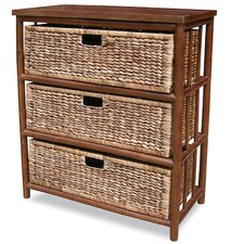 3 Drawer Open Side Cabinet by Heather Ann Creations