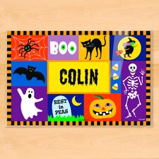 Halloween Blocks Personalized Placemat