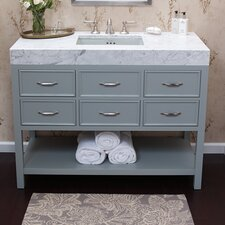 Newcastle 48 Bathroom Vanity Cabinet Base in Ocean Gray by Ronbow