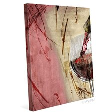 Artistic Pouring Red Wine Right Painting Print on Wrapped Canvas
