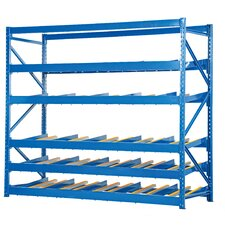 Carton Rack with Gravity Roll 5 Flow Levels by Vestil