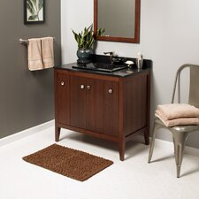 Sophie 36 Bathroom Vanity Cabinet Base in American Walnut by Ronbow