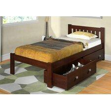 Donco Kids Twin Slat Bed with Storage