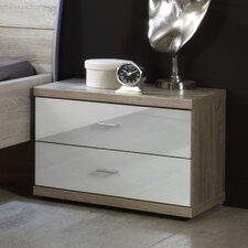 2-tlg. Nachttisch-Set Miro mit 2 Schubladen