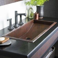 Trough Rectangular Undermount Bathroom Sink by Native Trails, Inc.