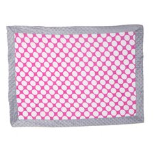 Dots with Border Plush Blanket