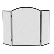 3 Panel Basic Arch Fireplace Screen