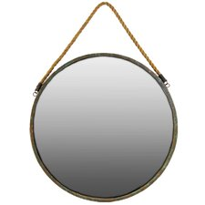 Industrial Round Metal Wall Mirror
