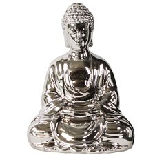 Meditating Buddha with Rounded Ushnisha in Mida No Jouin Mudra Figurine
