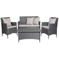 Venice 4 Piece Deep Seating Group with Cushions by Handy Living