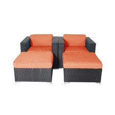 Shadow Shay 4 Piece Lounge Chair Set with Cushions
