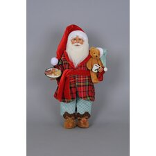 Christmas Milk and Cookies Santa Figurine