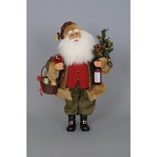 Christmas Lighted Wine Santa Figurine