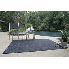 Ultra-Durable Black Solid Indoor/Outdoor Area Rug