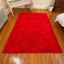 Super Soft Red Area Rug