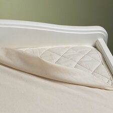 Natural Waterproof 3-Ply Flat Crib Pad by Bargoose Home Textiles