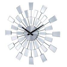 """19.38"""" Mirrored Pixels Wall Clock"""