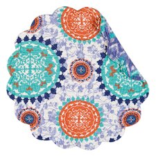 Zarina Reversible Round Quilt Placemat (Set of 6)