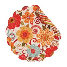 Giselle Reversible Round Quilt Placemat (Set of 6)