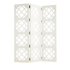 84 x 69 Ivory Key Folding Screen Room Divider by Tommy Bahama Home