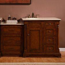 59 Single Sink Cabinet Bathroom Vanity Set by Silkroad Exclusive