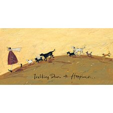 Gerahmtes Leinwandbild Walking Down to Happiness von Sam Toft