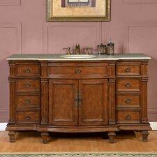 60 Single Sink Cabinet Bathroom Vanity Set by Silkroad Exclusive