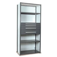 V-Grip 84 Shelving with Drawers Unit - 4Drw/5Shelf Closed Starter,  4 drawers - (2) 3, 4.5 & 7.5 H; 200 lb capacity by Equipto