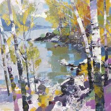 'Birch in Spring' by Chris Forsey Framed Wall art on Canvas