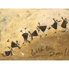 'Watch This, Doris!' by Sam Toft Framed Wall art on Canvas