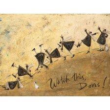 Gerahmtes Leinwandbild Watch This, Doris! von Sam Toft
