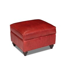 Benjamin Storage Leather Ottoman by Opulence Home