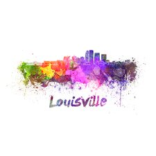Louisville Splatter Skyline Graphic Art by Prestige Art Studios