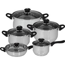10 Piece Family Stainless Steel Cookware Set