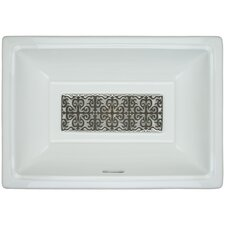 Porcelain Hawaiian Quilt Grate Bathroom Sink with Overflow by Linkasink