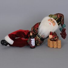 Christmas Wine Time Santa Figurine