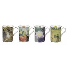 Monet 4 Piece 0.29L Fine China Mug Set