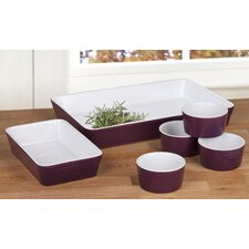 6 Piece Stoneware Oven to Table Serving Set