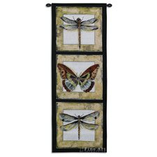 Butterfly Dragonfly II Cotton Tapestry
