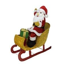 Santa Claus in Sleigh Christmas Decoration