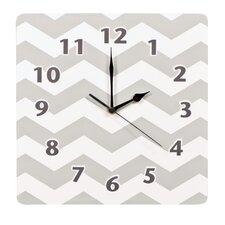 "Dove Gray 11"" Chevron Wall Clock"