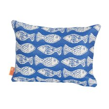 Coastal Fish Tales Indoor/Outdoor Lumbar Pillow